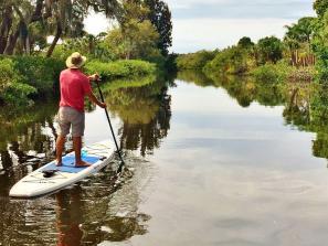 SUP on Alligator Creek. Photo credit: Liz Sandburg.