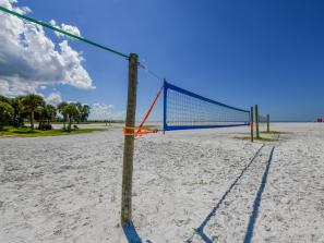 Siesta Key Beach with Volleyball Nets