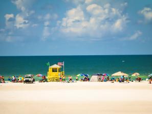 crowd at a beach