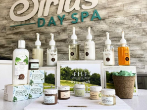 skincare products on display