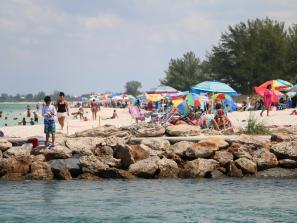 people at nokomis beach in sarasota florida