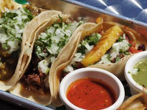 Tacos at Reyna's Taqueria [Photo: Lauren Jackson]