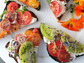 Tomato Tartines. Photo by Nicole Coudal