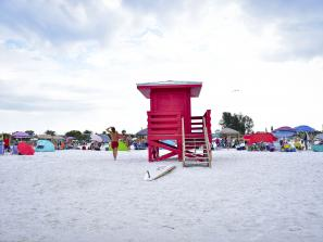 Siesta Key during a beach volleyball sporting event