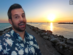 beach background from Venice for video chat