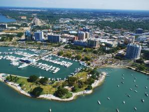 Aerial view of downtown Sarasota