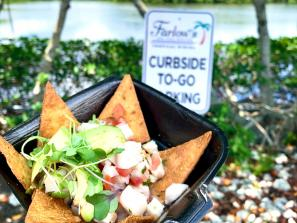 ceviche from farlows on the water restaurant