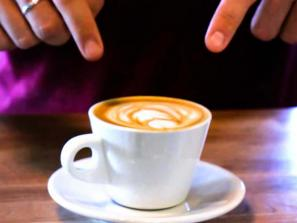 "Perq offers many unique coffee and espresso beverages, including their signature ""flat white""."