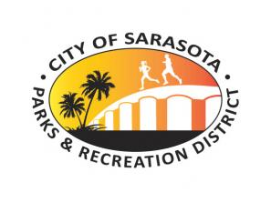 "City of Sarasota Parks & Recreation District Logo - Our Mission Statement ""To provide recreational opportunities for residents and visitors, help young people realize their potential, and contribute to the City's economic, social, and environmental sustainability."""