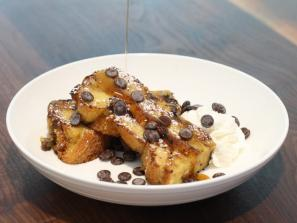 Bistro- Brunch- Bread Pudding French Toast - Bread Pudding French Toast with banana and chocolate