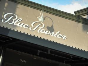 Blue Rooster Outside