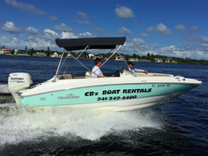 Natuic Star 19' Boat Rental - One of our many boats available for Half Day or Full Day Rental!