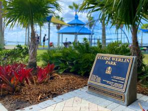 Eloise Werlin Park - Located on the eastern base of the John Ringling Causeway Bridge adjacent to Hart's Landing. Park includes a playground, walking trails, fabric shade structures, Hart's Landing (bait shop), gazebo, Tony Saprito Fishing Pier, benches and allows leashed pets.