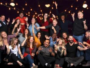 Cast of FST Improv. Photo by Matthew Holler.