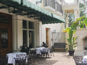 Italian Tradition Patio - Step out onto the patio for a romantic evening by the fire.