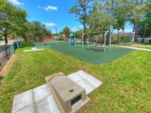 Mary Dean Park Cornhole Game - Don't forget your beanbags for a fun game of cornhole!