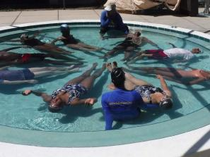 Impossible to fail here! - Anyone can learn to float in our 2-foot pool