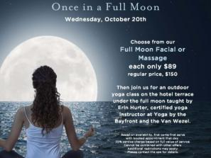 Once in a Full Moon Yoga Class and Spa Specials