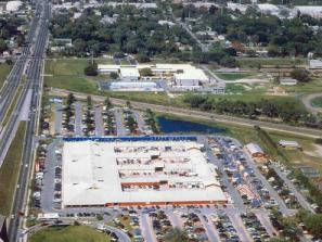 Red Barn Flea Market Aerial - An ariel view of the Red Barn Flea Market in Bradenton where US 41 and 301 meet at 17th Avenue.