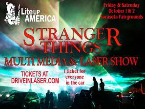 Stranger Things Laser Show