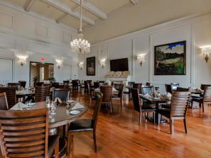 Bistro Dining Room - The Bistro dining room overlooks the golf course 18th green.