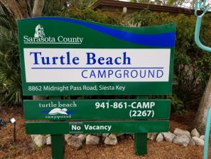 Turtle Beach Campground - Street Sign
