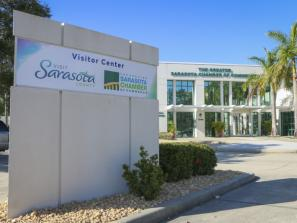 The Downtown Visitor Center - The Visitor Center is located in downtown Sarasota at 1945 Fruitville Road