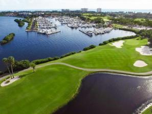 aerial view of longboat key club resort golf course