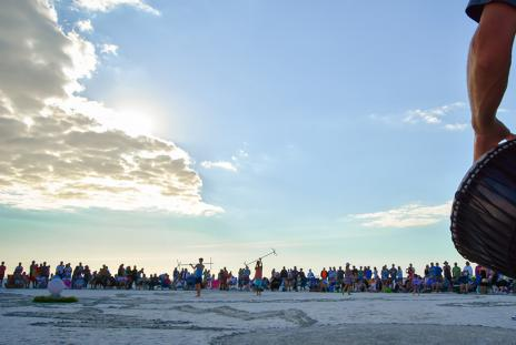 Siesta Beach drum circle