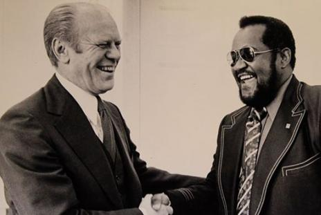 Gerald Ford and Dr. Ed James in Sarasota Florida