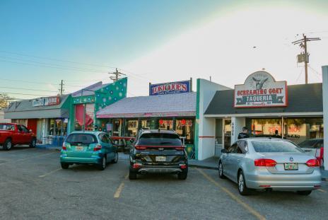 Storefronts in gulf gate neighborhood in sarasota florida
