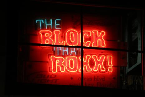 Block that Roxx neon sign
