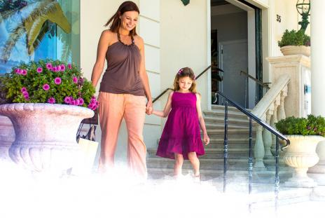 A mother and daughter shop in St. Armands Circle in Sarasota, Florida. September in Sarasota is Shoptember! Take advantage of deals from all over the area!