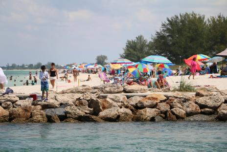 people at nokomis beach in sarasota florida