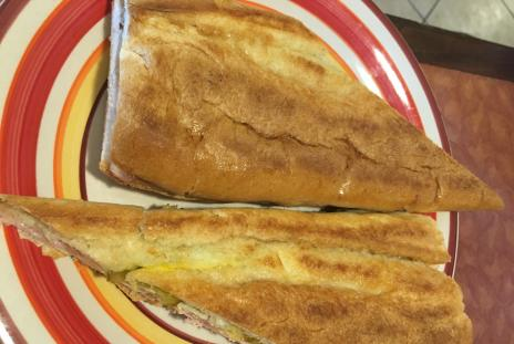 Cuban sandwich at Mirna's Cuban Cafe in sarasota florida