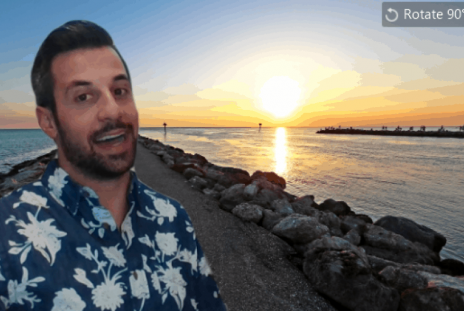 Person using Venice beach image for their zoom background