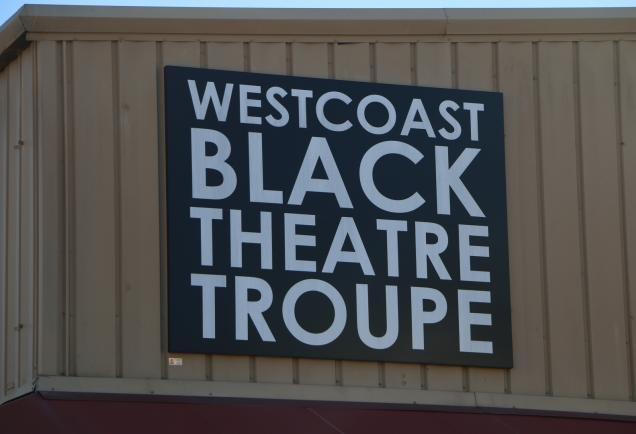 logo on westcoast black theatre troupe building