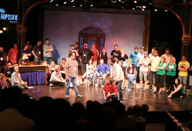 People doing improv on stage at Florida Studio Theater