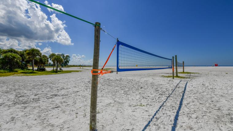 Siesta Key Beach with Volleyball Nets