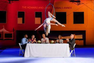 Meeting attendees at Circus Arts Conservatory dinner