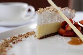 Key Lime Pie - Michael's On East.  Photo by Robin Draper.