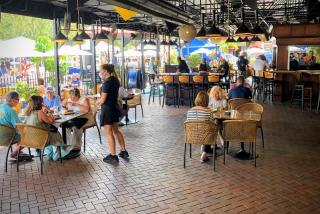 outdoor seating at mattison's city grille in sarasota florida