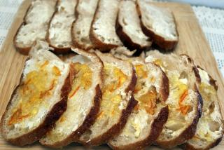 Florida Orange Bread and Butter Pudding - Bread Prep