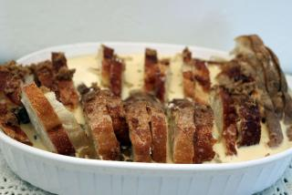 Florida Orange Bread and Butter Pudding - Pour Custard