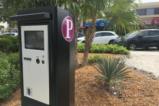 parking meter in St. Armands Circle near Sarasota Florida