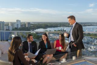 Meeting attendees at The Westin Sarasota Rooftop