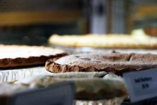 Pies sitting on a countertop from Der Dutchman restaurant in Sarasota, Florida