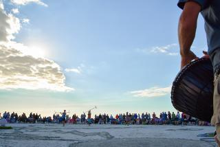 Siesta Beach drum circle