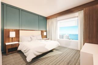 Renderings on an Embassy Suites hotel room