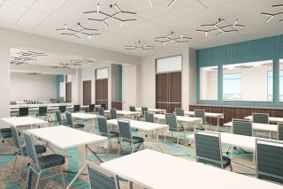 Rendering of an Embassy Suite meeting room
